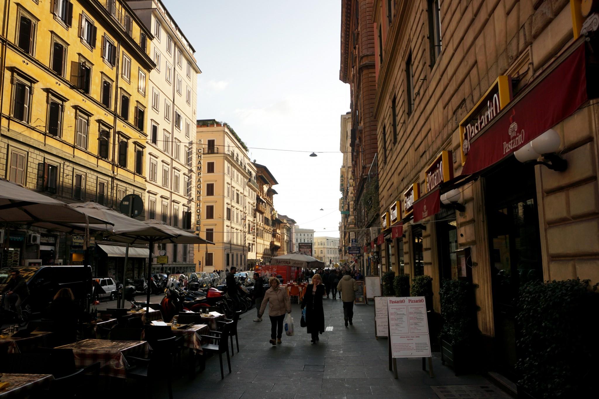 Rzym - okolice dworca Terminus
